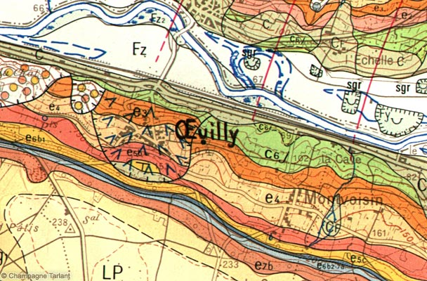 Oeuilly geological map